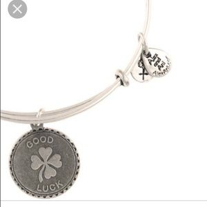 "Alex & Ani Silver ""Good Luck"" Bangle"